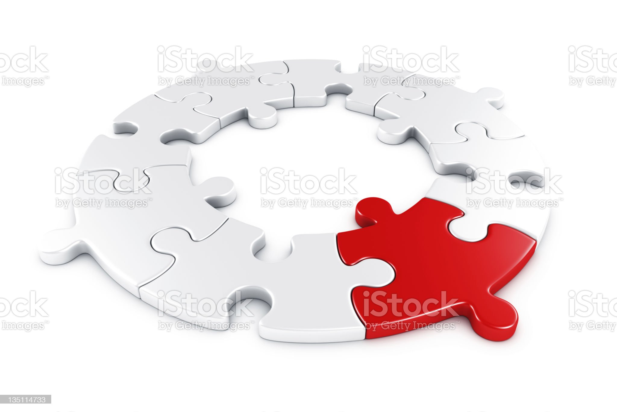 Circular puzzle royalty-free stock photo