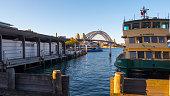 Circular Quay and Harbour Bridge , Sydney, Australia 4k