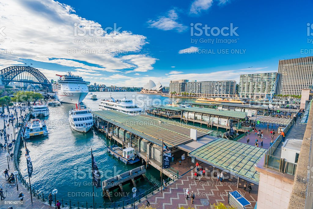 Circular Quay in Sydney CBD in daytime stock photo