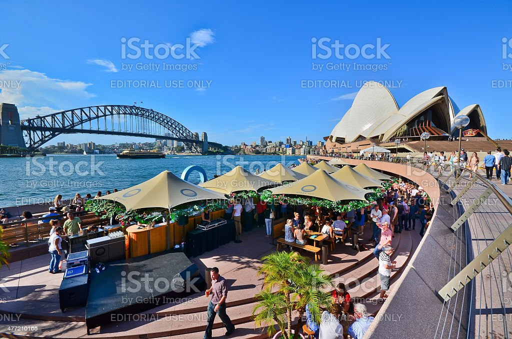 Circular Quay in Sydney stock photo