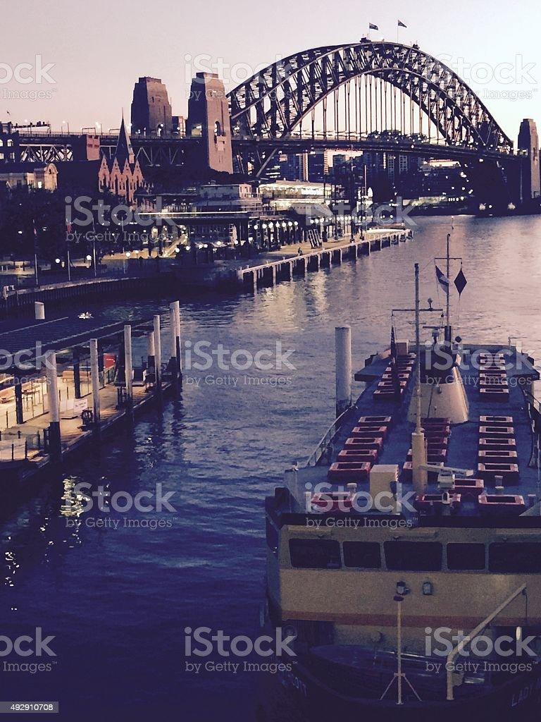 Circular Quay shines in Sydney stock photo