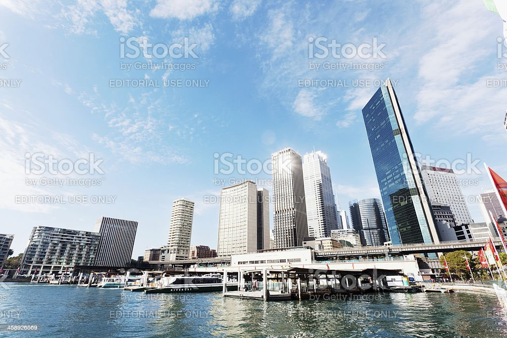 Circular Quay, Sydney royalty-free stock photo