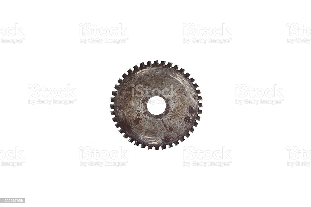 Circular saw blade for wood work stock photo