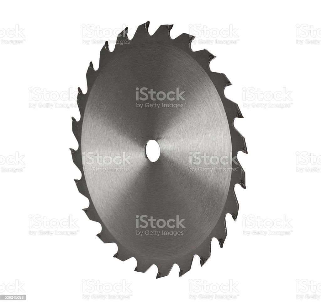Circular Saw Blade Isolated stock photo