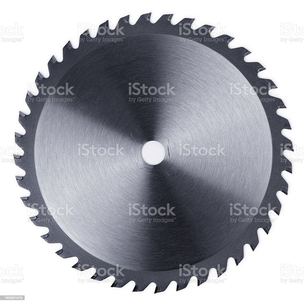 Circular Saw Blade on White stock photo