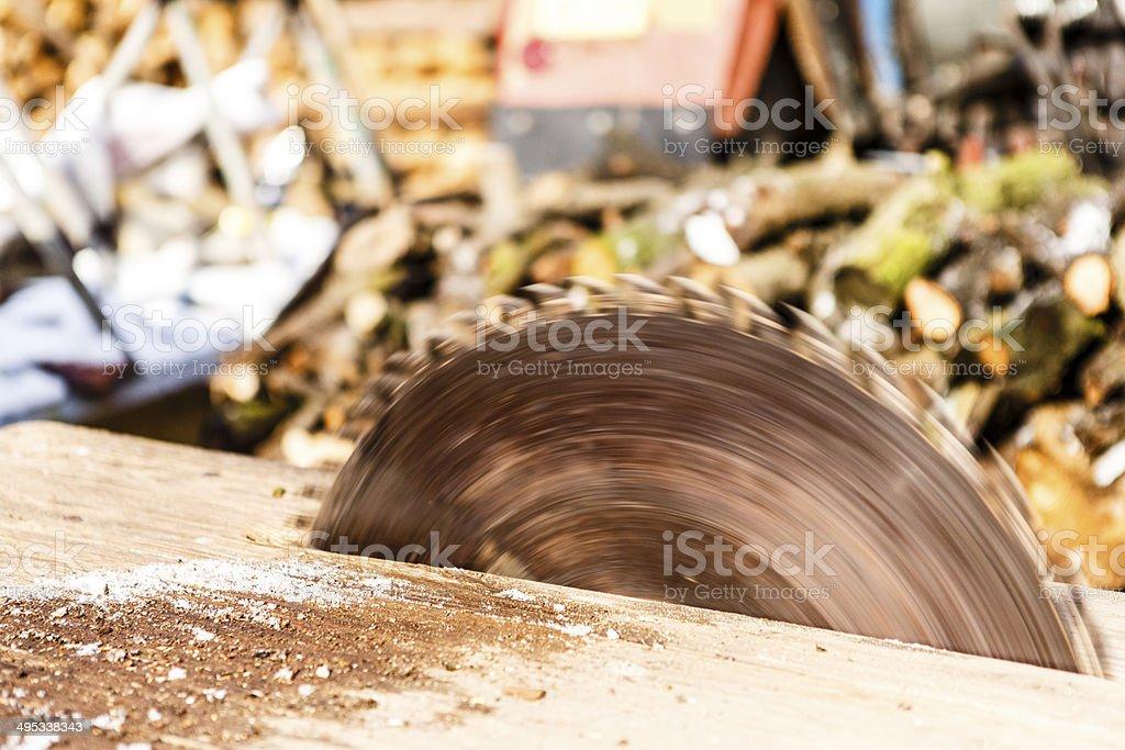 Circular saw blade stock photo