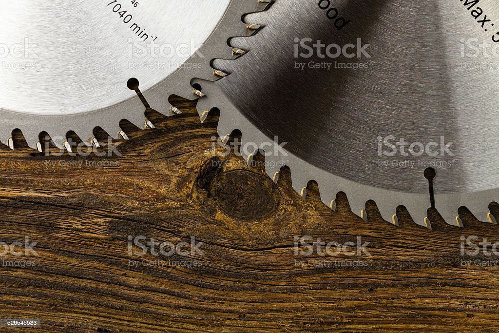 circular saw blades stock photo
