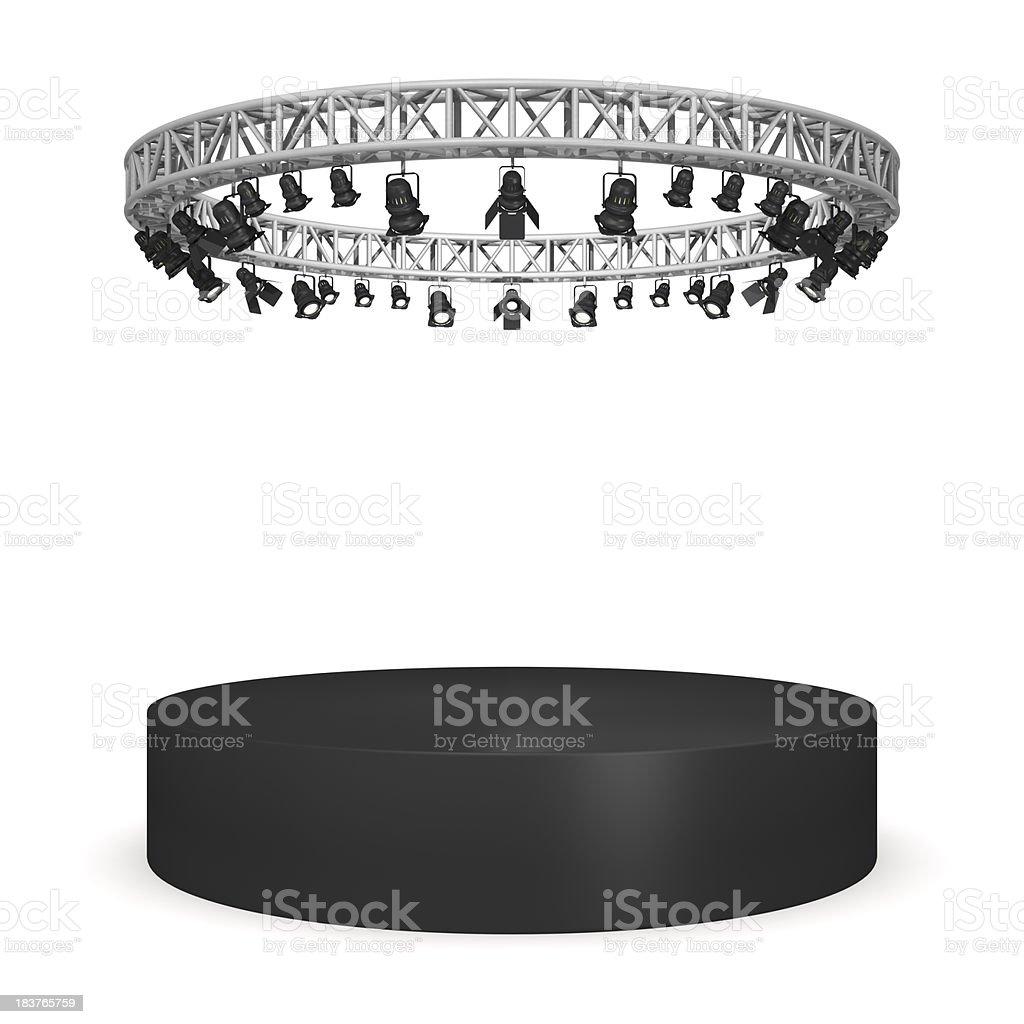 Circular stage royalty-free stock photo