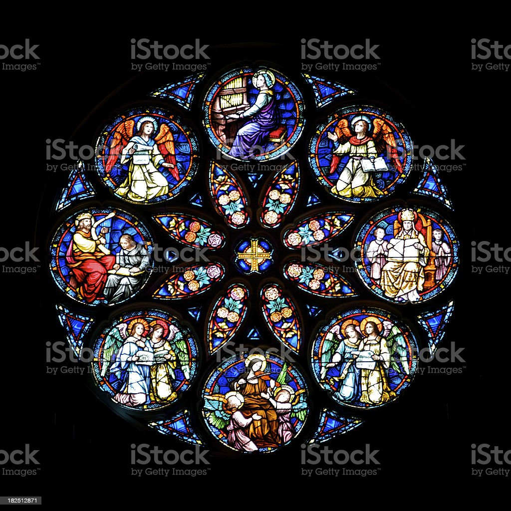 Circular Stained Glass royalty-free stock photo