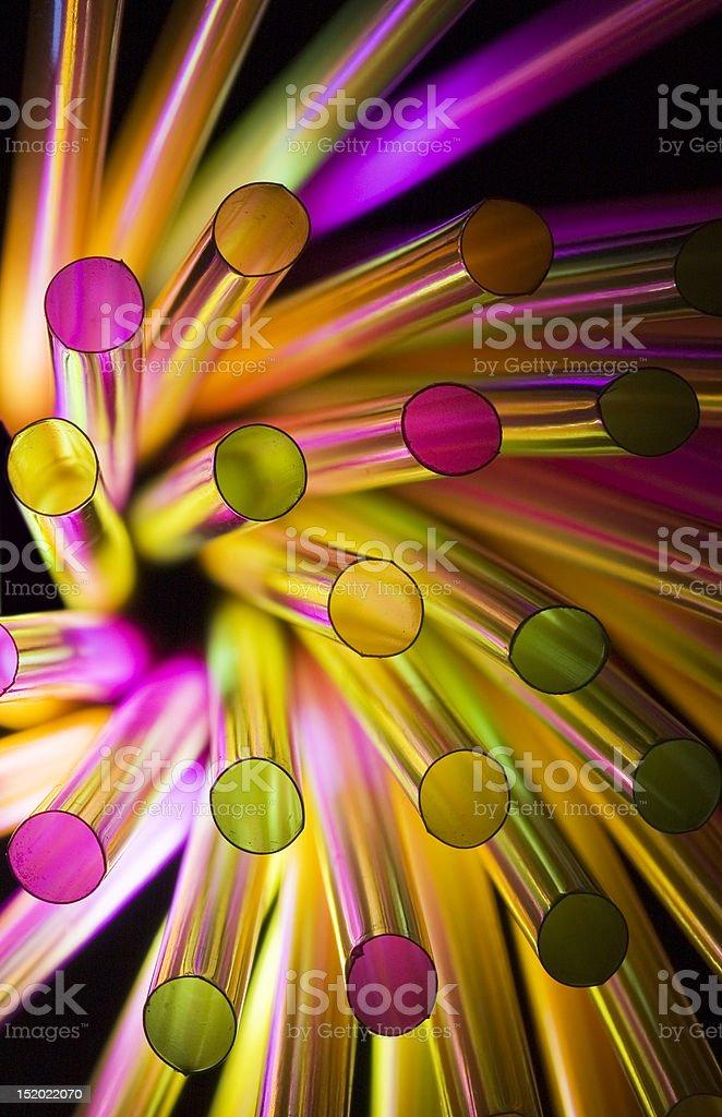 Circular Straws royalty-free stock photo