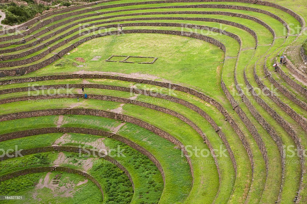 Circular Terrace of Moray, Peru stock photo