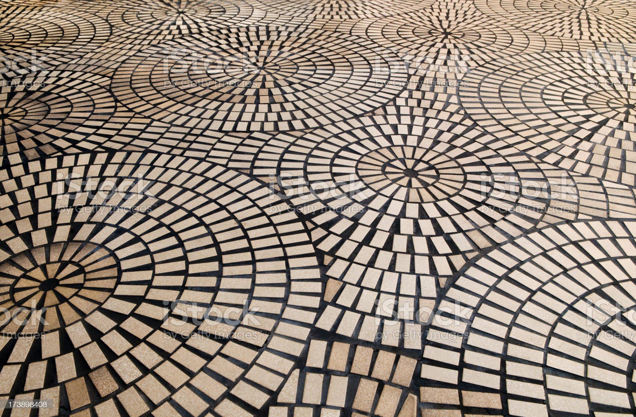 Circular Tile Background royalty-free stock photo