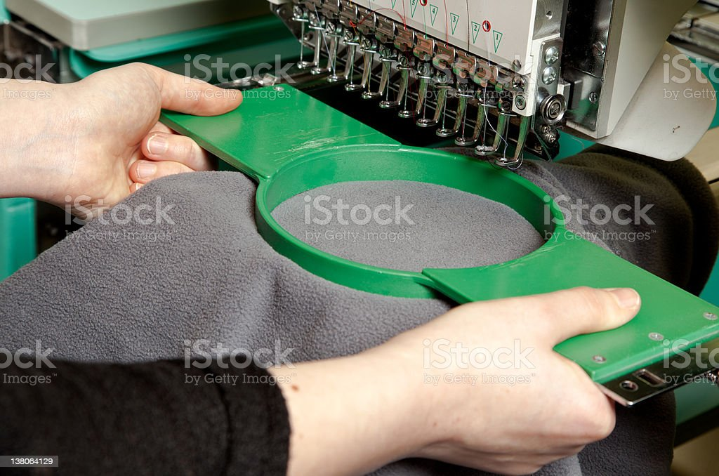 Circular tool and instrument used for embroidery stock photo