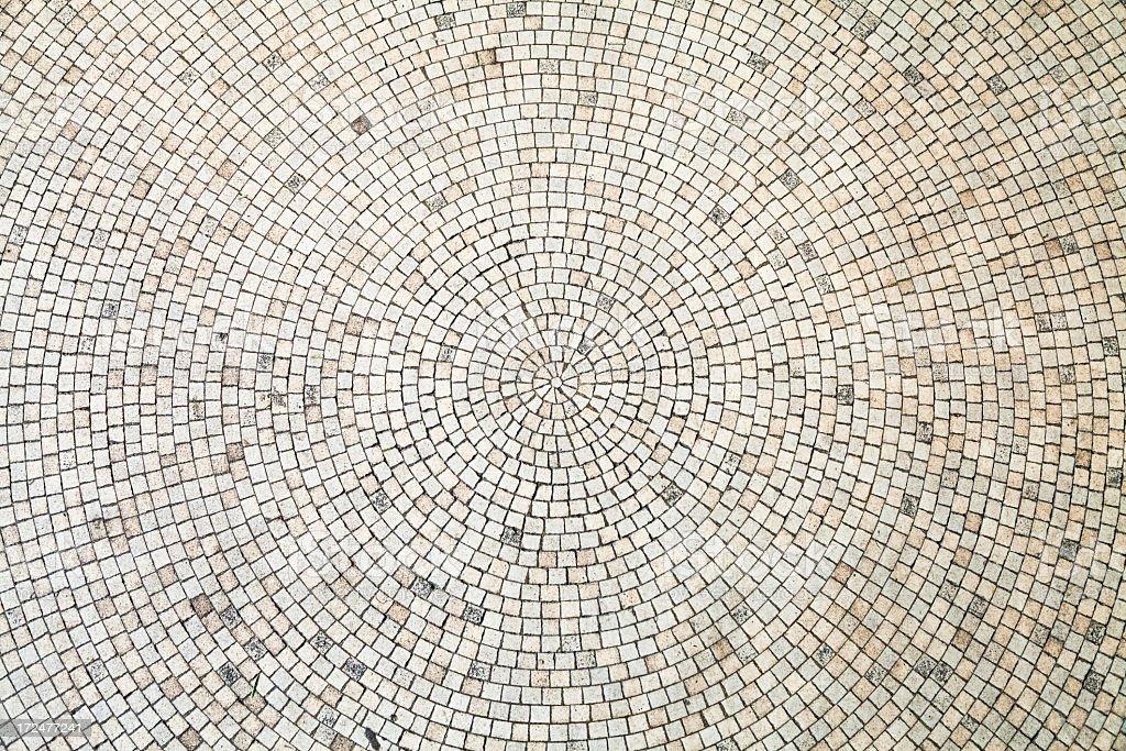 Circular White Tiles Background stock photo
