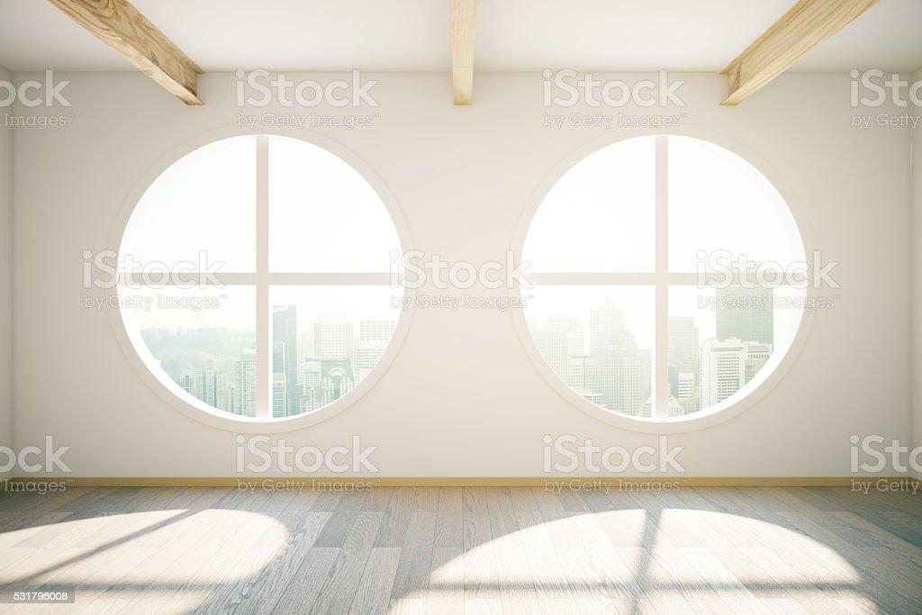 Circular windows stock photo