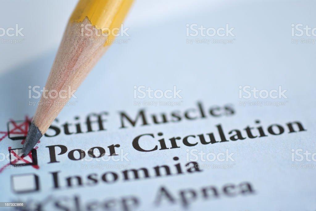 circulation-medical chart stock photo