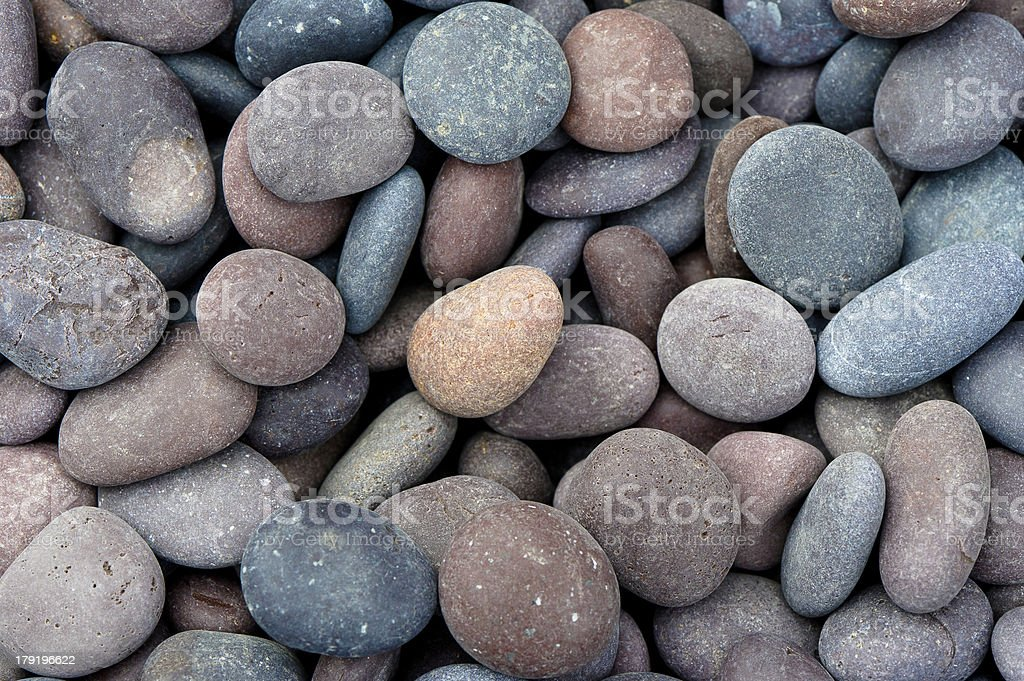 Circulo of Dry River Rocks stock photo