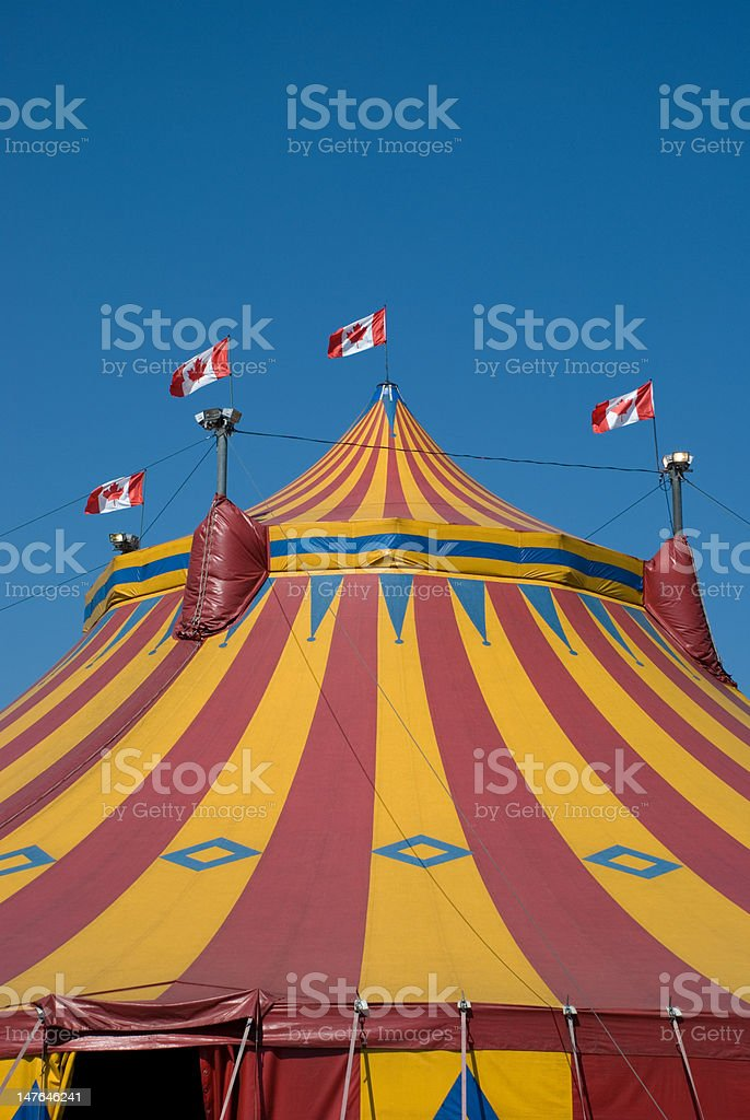Circus Big Top - Vertical royalty-free stock photo