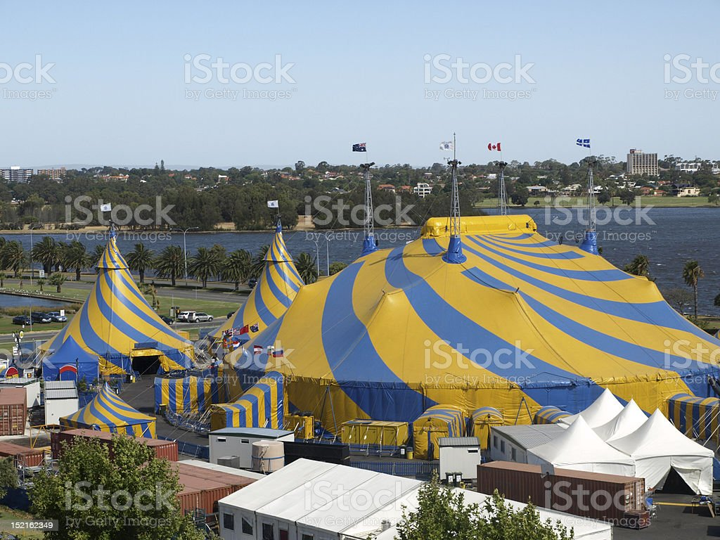 circus by the river royalty-free stock photo