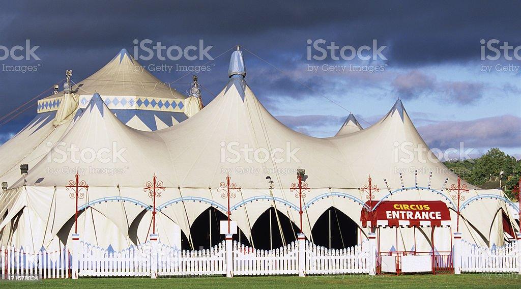 Circus entrance stock photo