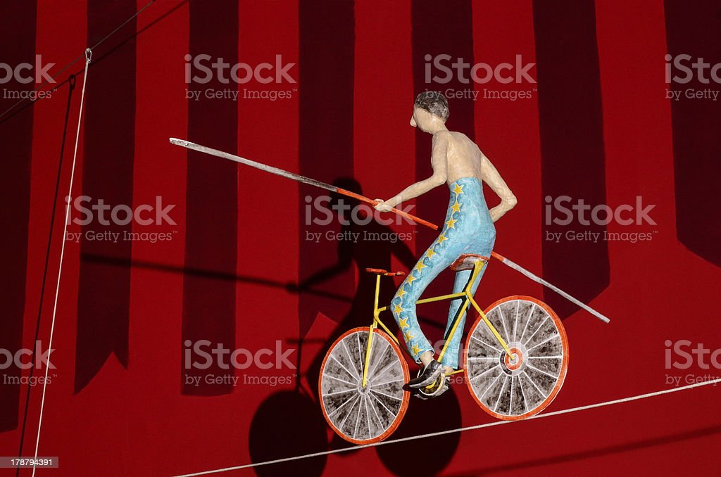 Circus equilibrist stock photo