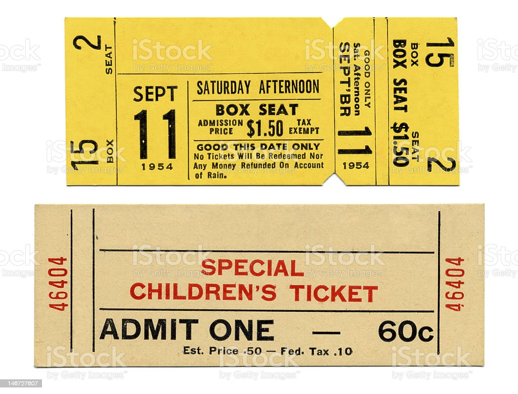 Circus & Fair Tickets stock photo