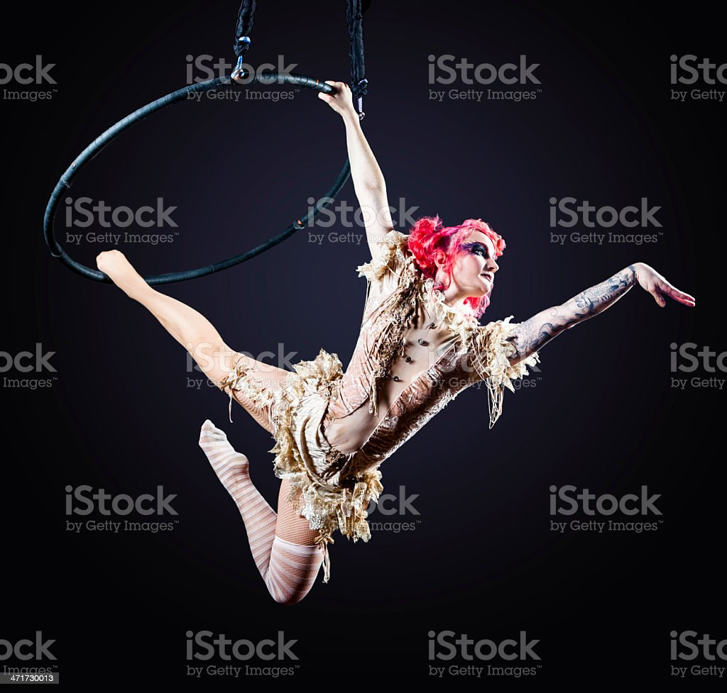 Circus Hoop Performer stock photo