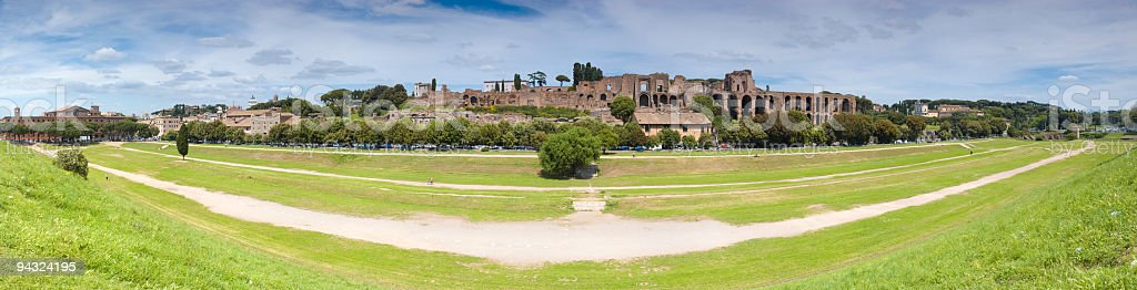 Circus Maximus and Palatine Hill, Rome stock photo