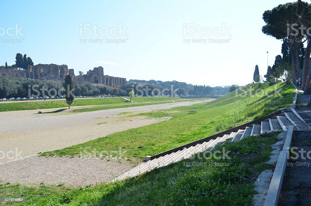 Circus Maximus and Palatino, Rome stock photo