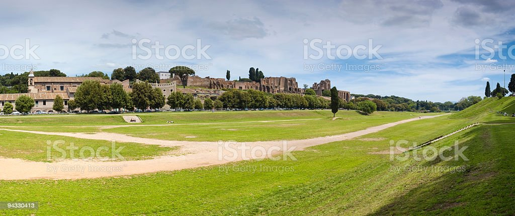 Circus Maximus and Palatino, Rome stock photo