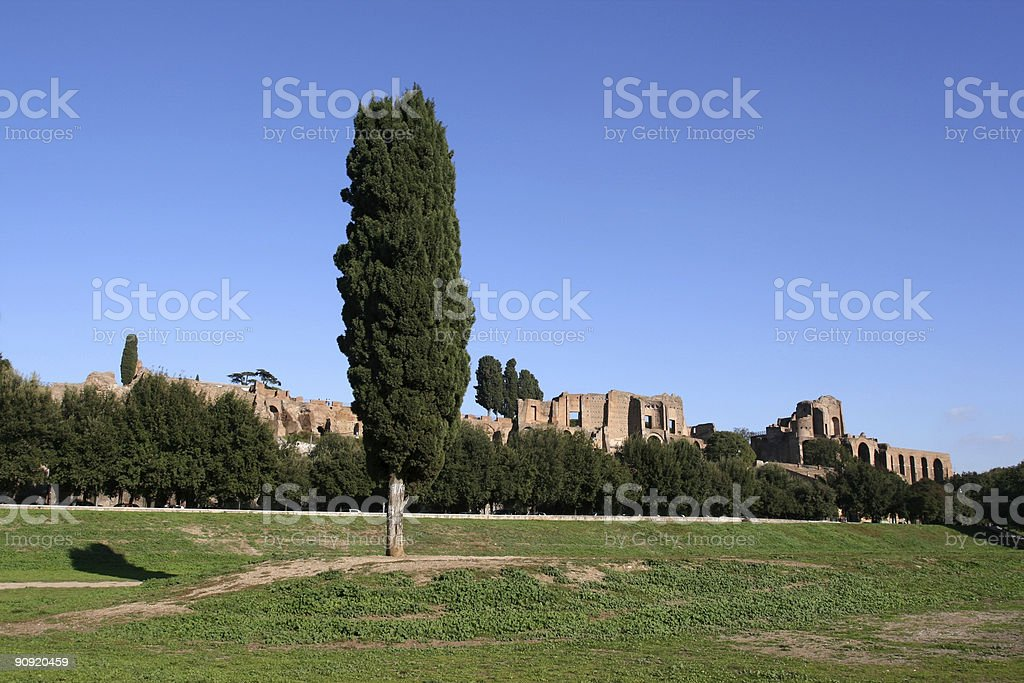 Circus Maximus and The Palatine Hill stock photo