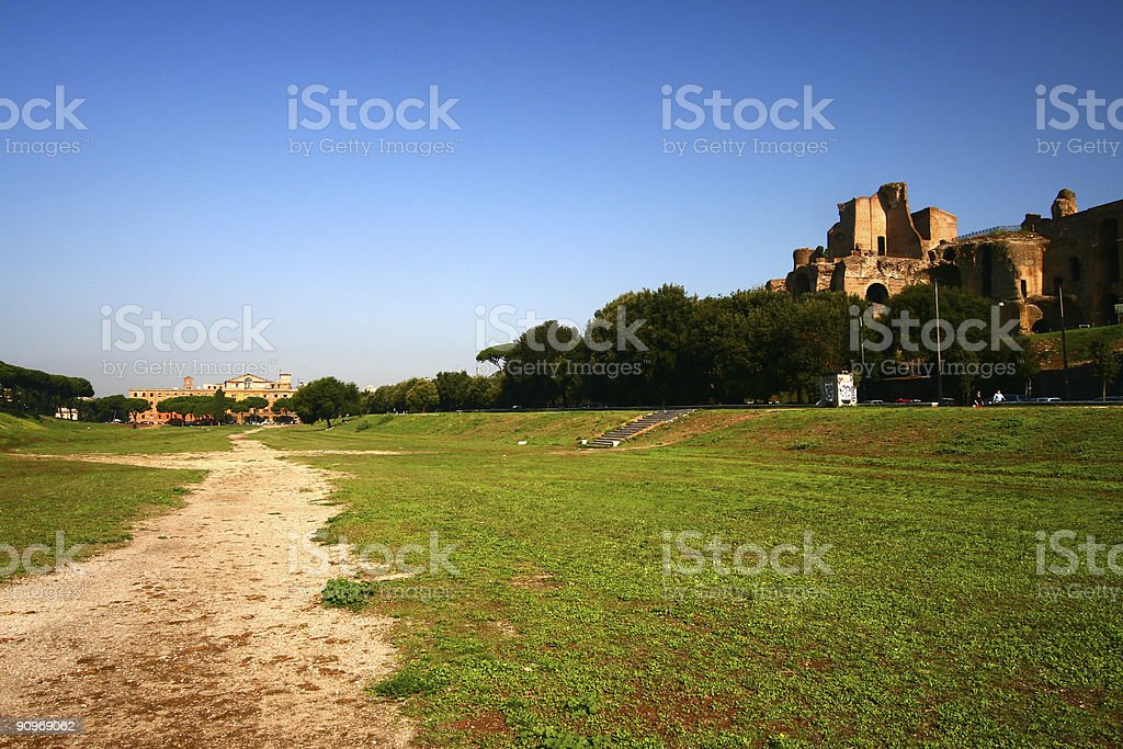 Circus Maximus in Rome, Italy stock photo