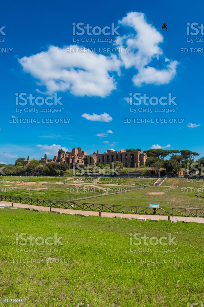 Circus Maximus in Rome (Italy) stock photo