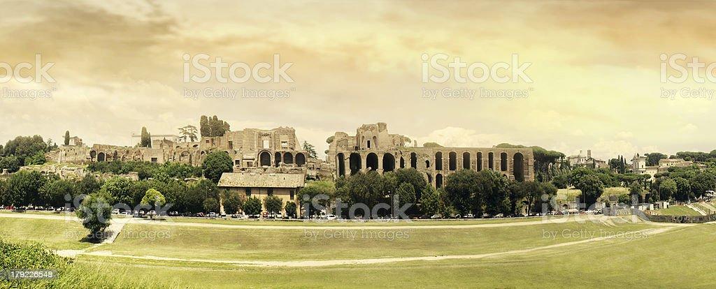 Circus Maximus Panoramic royalty-free stock photo