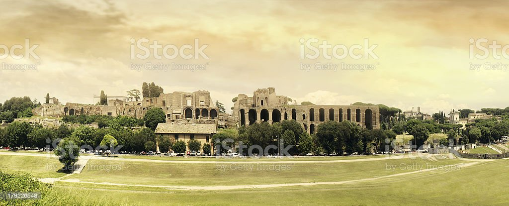 Circus Maximus Panoramic stock photo