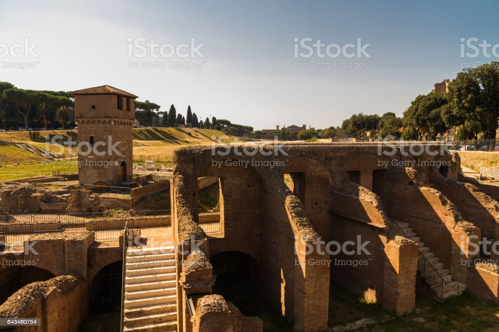 Circus maximus, Rome stock photo