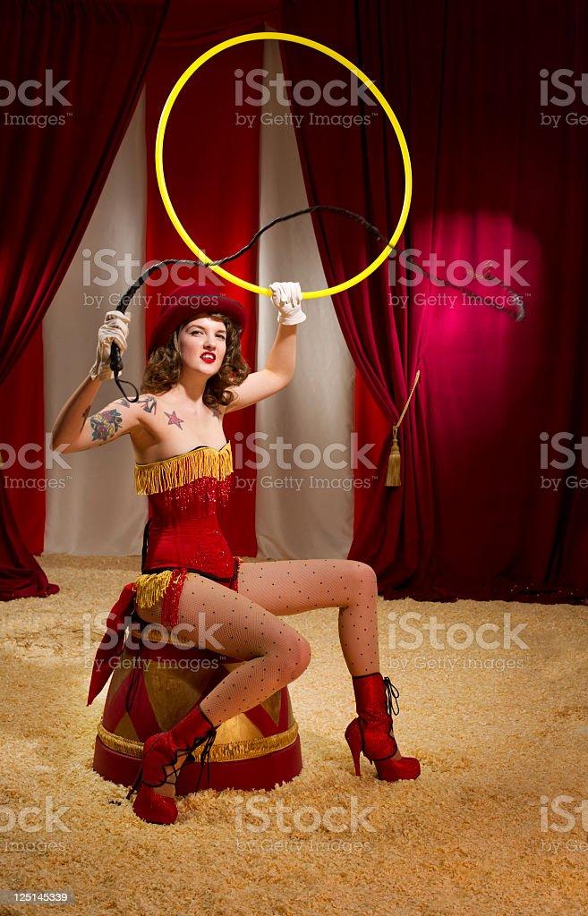 circus ringmaster stock photo