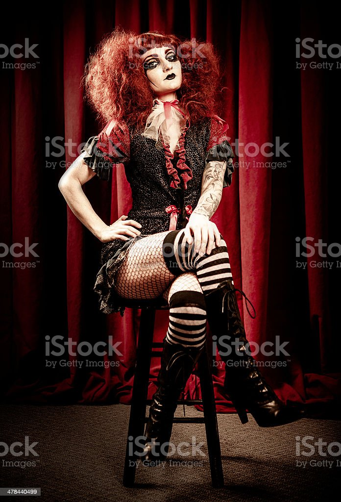 Circus Series: Gothic Woman royalty-free stock photo