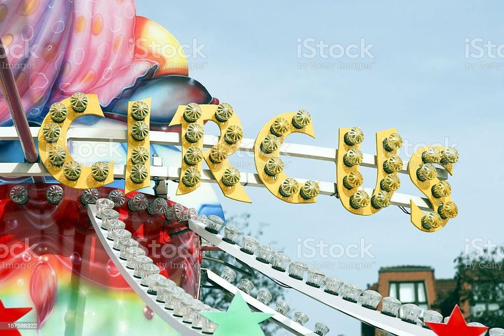 Circus sign royalty-free stock photo