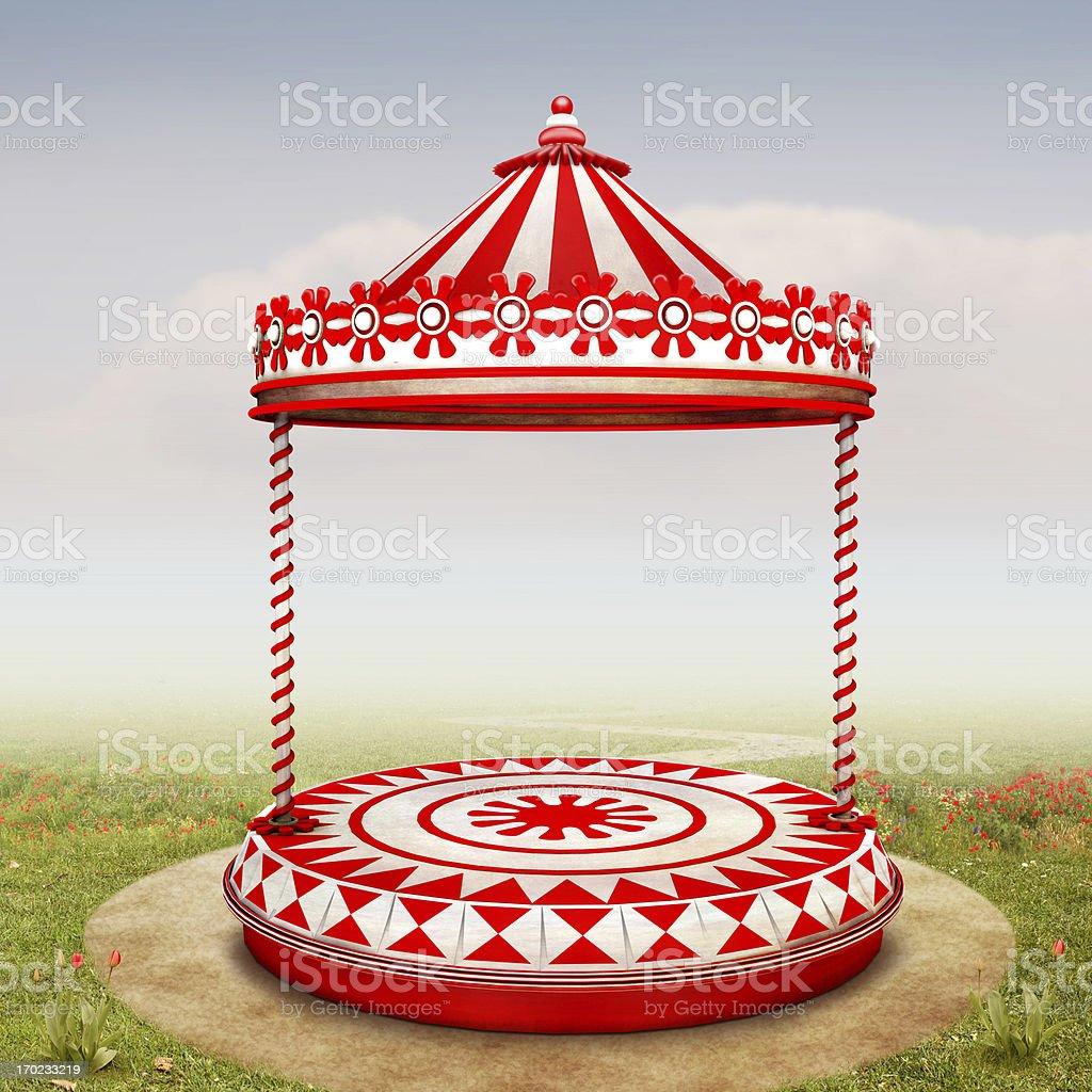 Circus stage stock photo