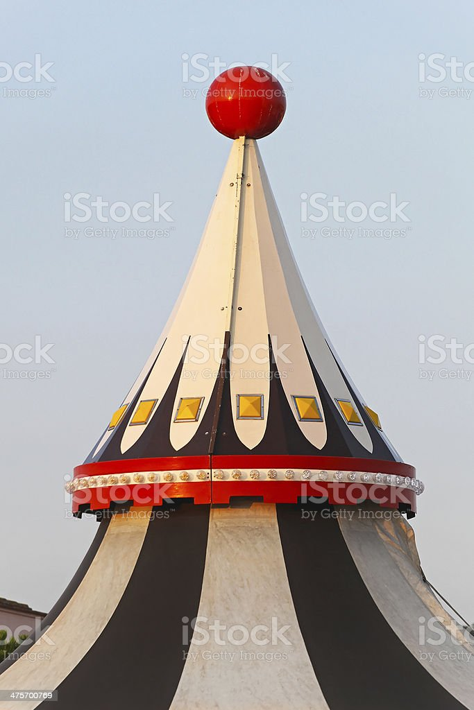 Circus tent top royalty-free stock photo