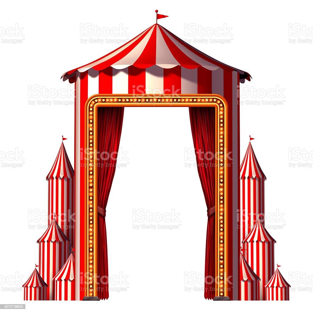 Circus Tent Vertical stock photo
