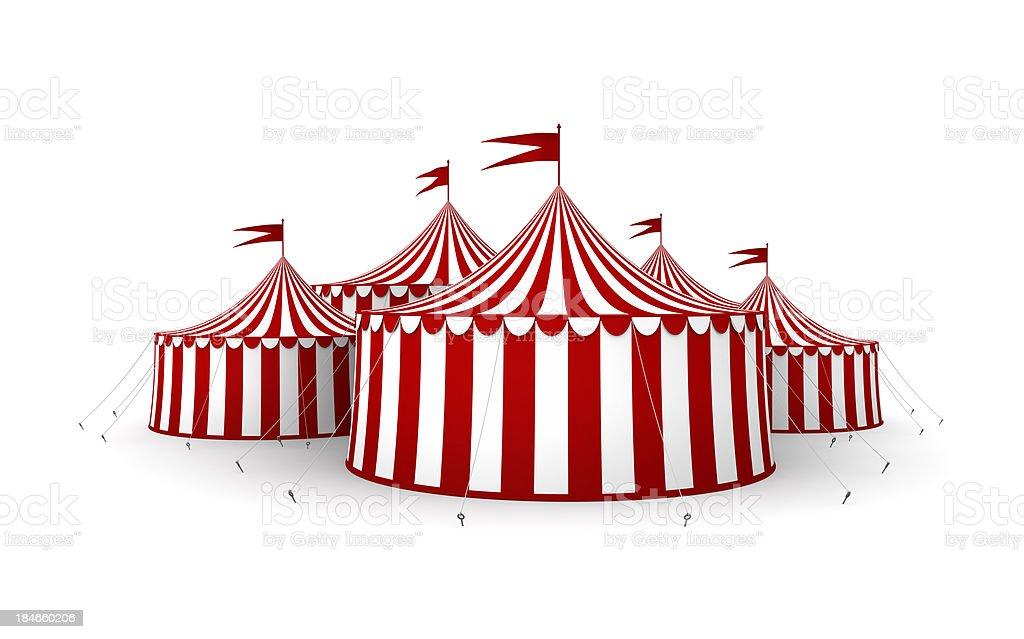 Circus tents stock photo