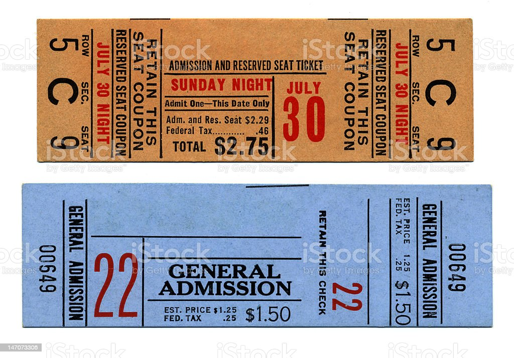 Circus Tickets stock photo