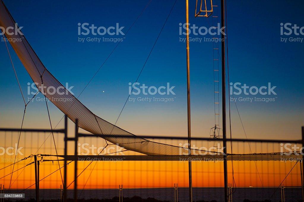 circus trapeze stock photo