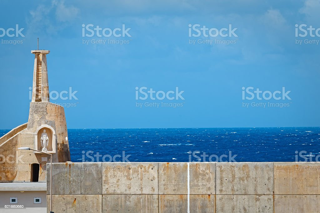 Cirkewwa quay, where ferries depart for Gozo stock photo