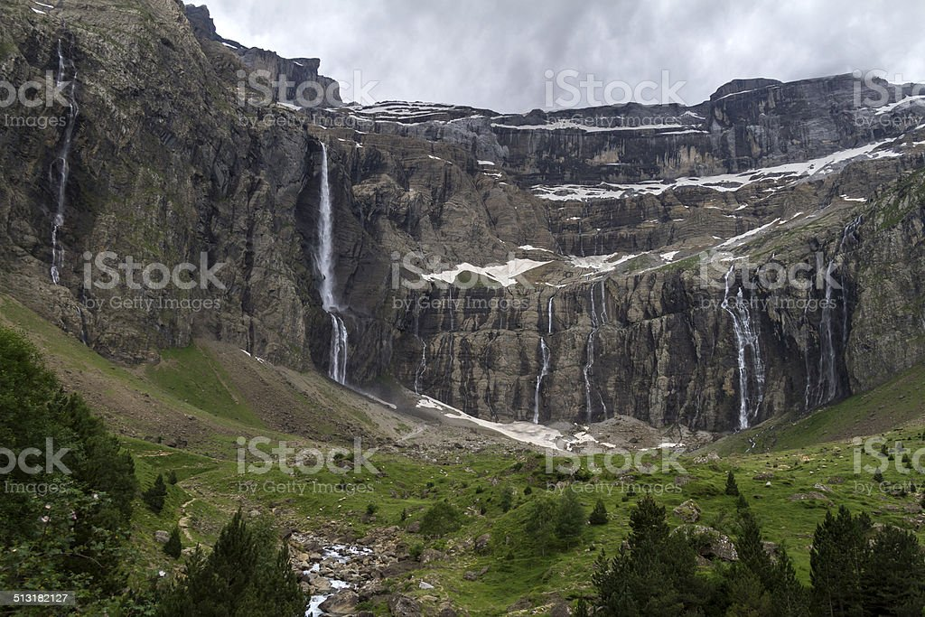 Cirque de Gavarnie in the French Pyrenees. stock photo
