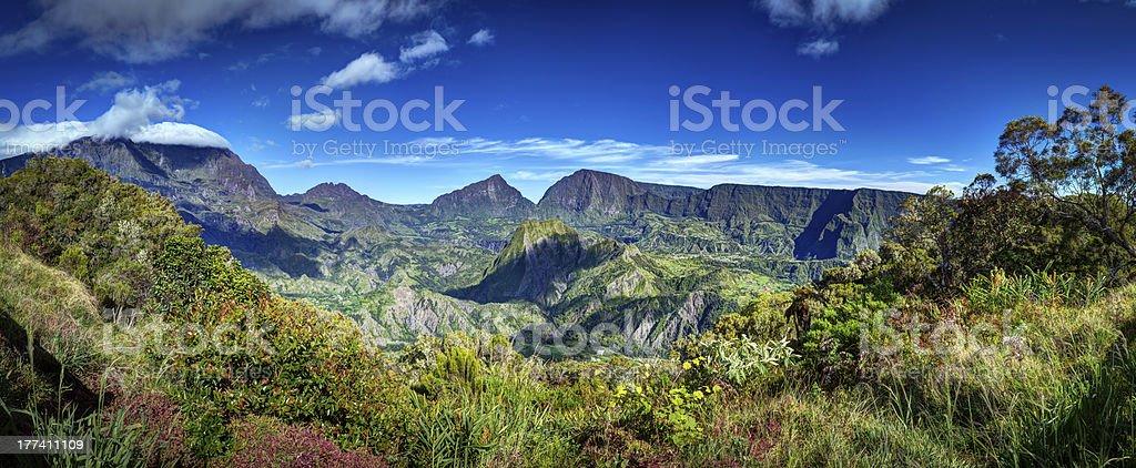 Cirque de Salazie landscape stock photo