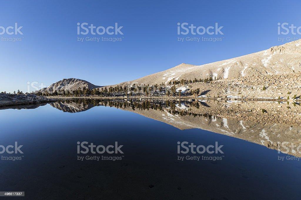 Cirque Lake Reflection stock photo
