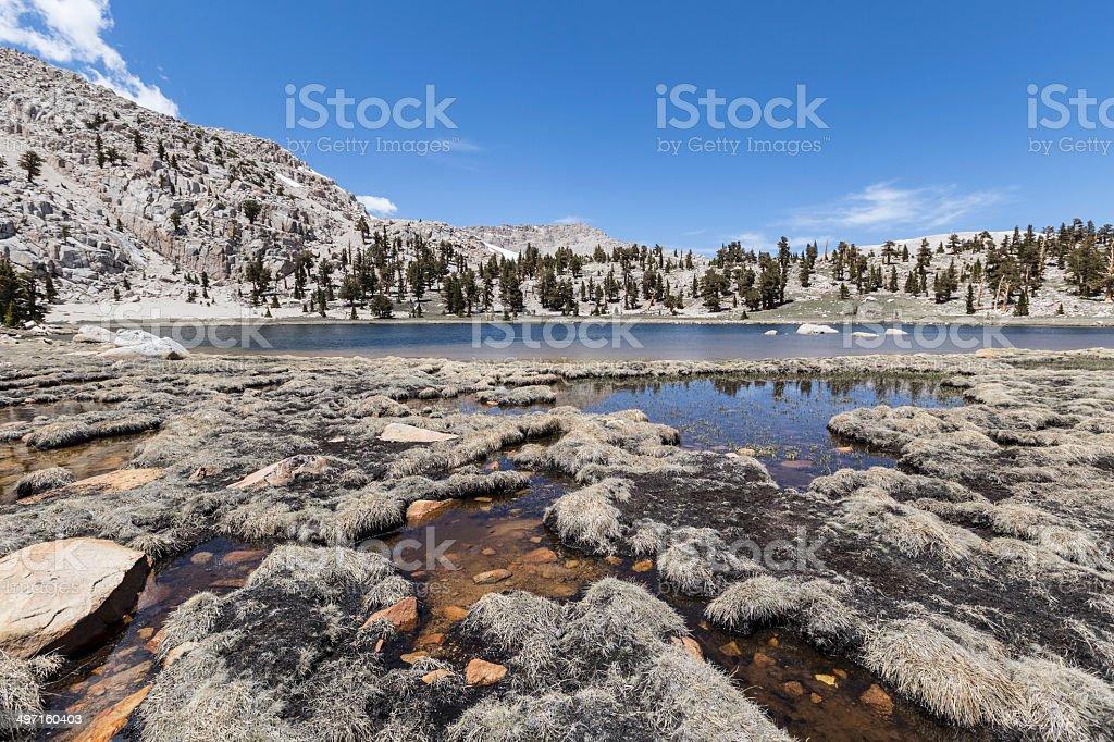 Cirque Lake Southern Sierras stock photo